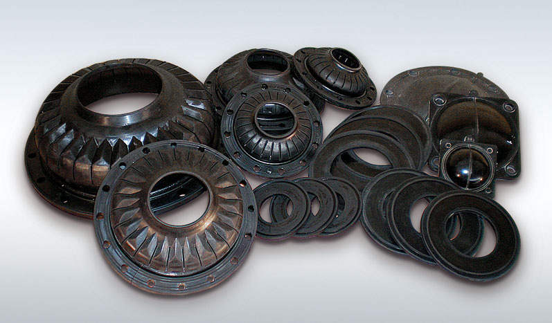 Rubber parts for irrigation systems