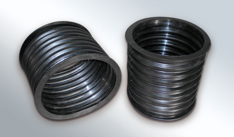 Rubber ducts for mechanical component protection