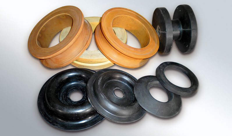 Rubber drivers (eg tree, air or oil film, gasket)
