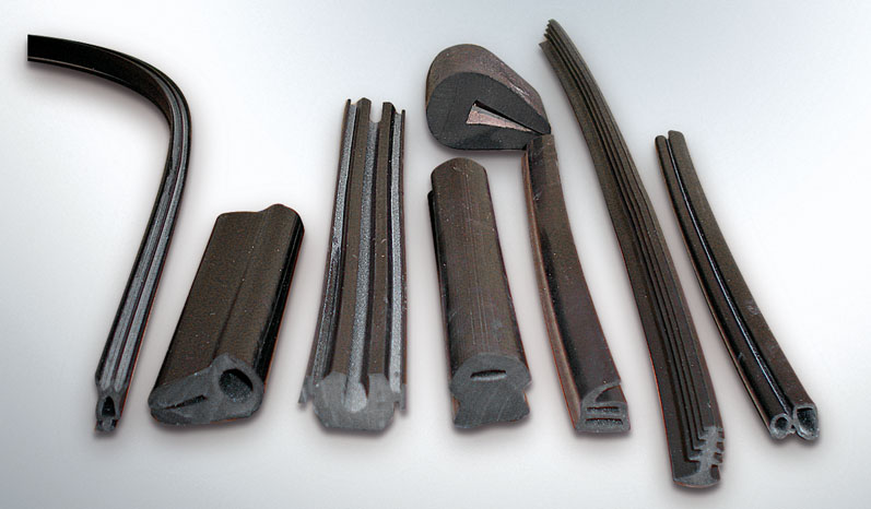 Rubber profiles for frames, furnitures etc