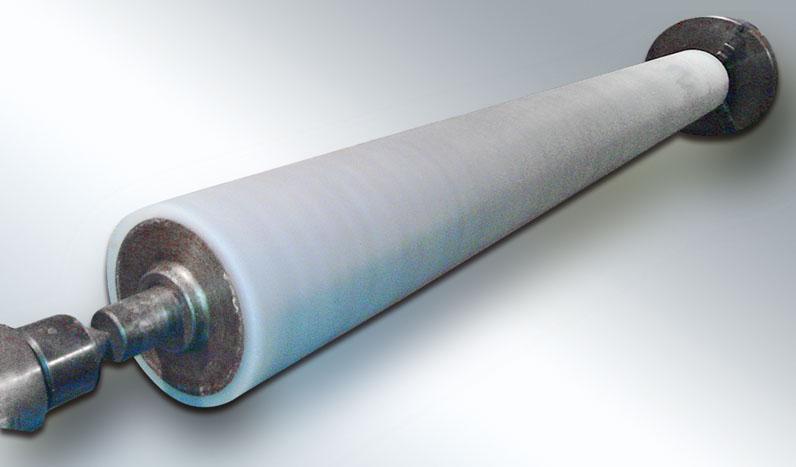 Επένδυση σιλικόνης σε κύλινδρο κεριού για χαρτοβιομηχανία