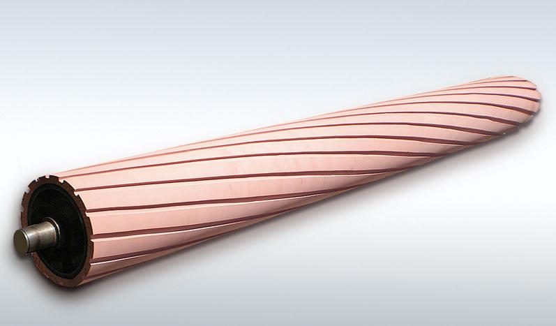 Ελαστική επένδυση κυλίνδρων τριβείου (π.χ. ξυλείας ή μετάλλων)