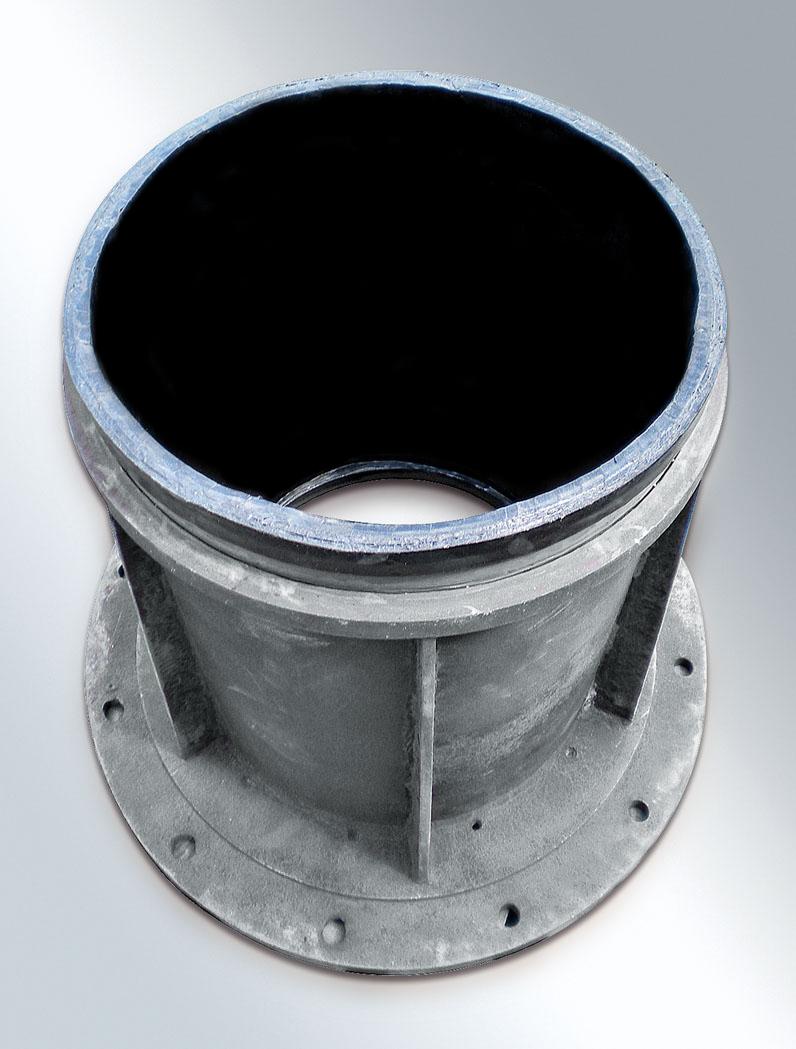 Ελαστική επένδυση σωλήνων ή μαστών, για χρήση σε ροή λάσπης ή μεταλλευμάτων